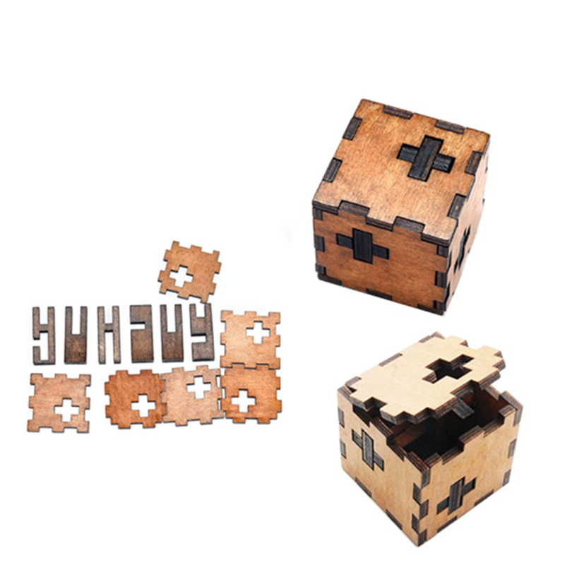 Luban Lock Puzzle Games Toys 3D Cube Wooden Toys For Children Kong Ming Lock Intelligence Development Puzzle Popular Toys