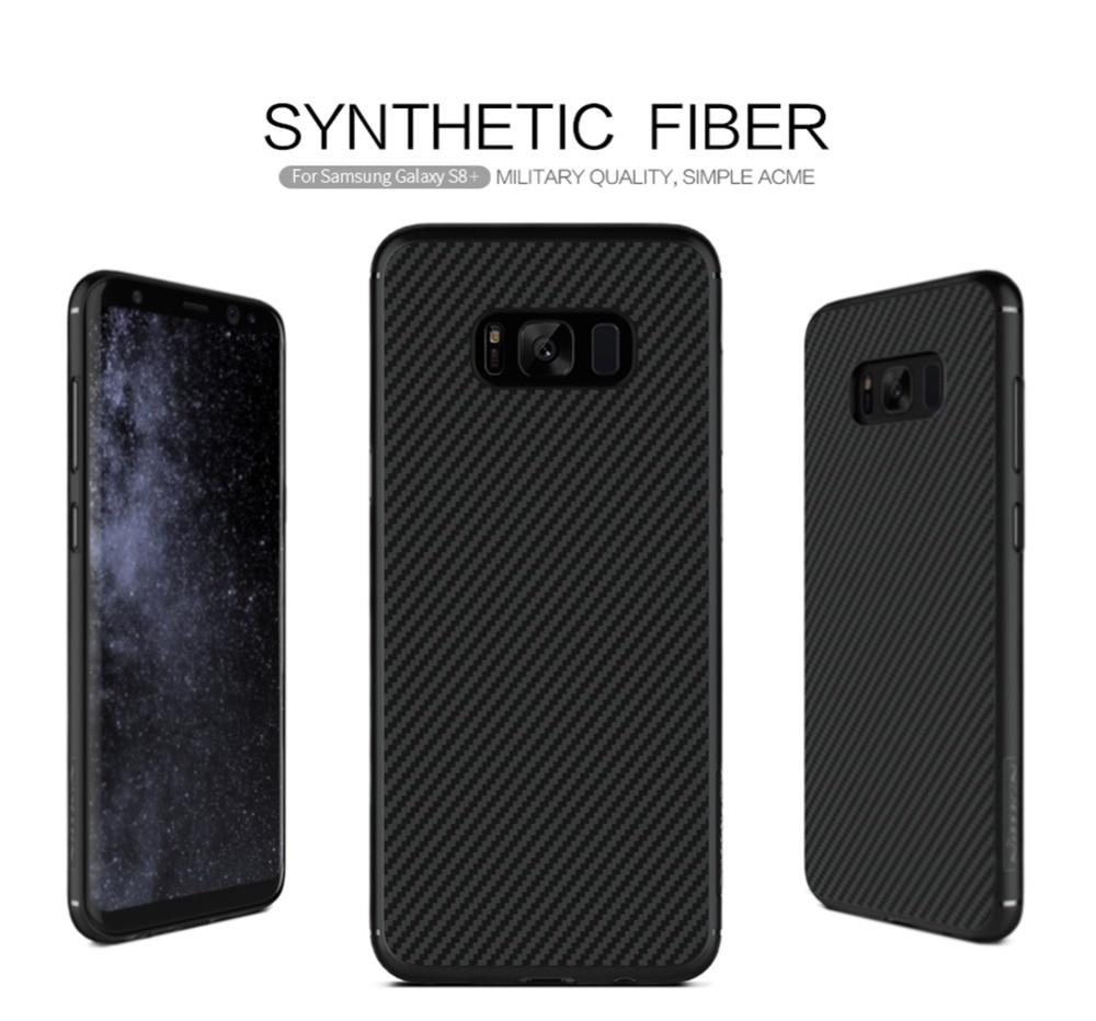 imágenes para Para Samsung galaxy s8 s8 más Caso de la cubierta de NILLKIN de fibra Sintética contraportada paquete shell trasero para Samsung s8 s8 + caja Al Por Menor