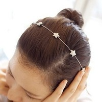 Корейский ювелирные изделия корейской версии пятиконечная звезда алмаз сплава украшения для волос тонкой ленты для волос, бесплатная дост...