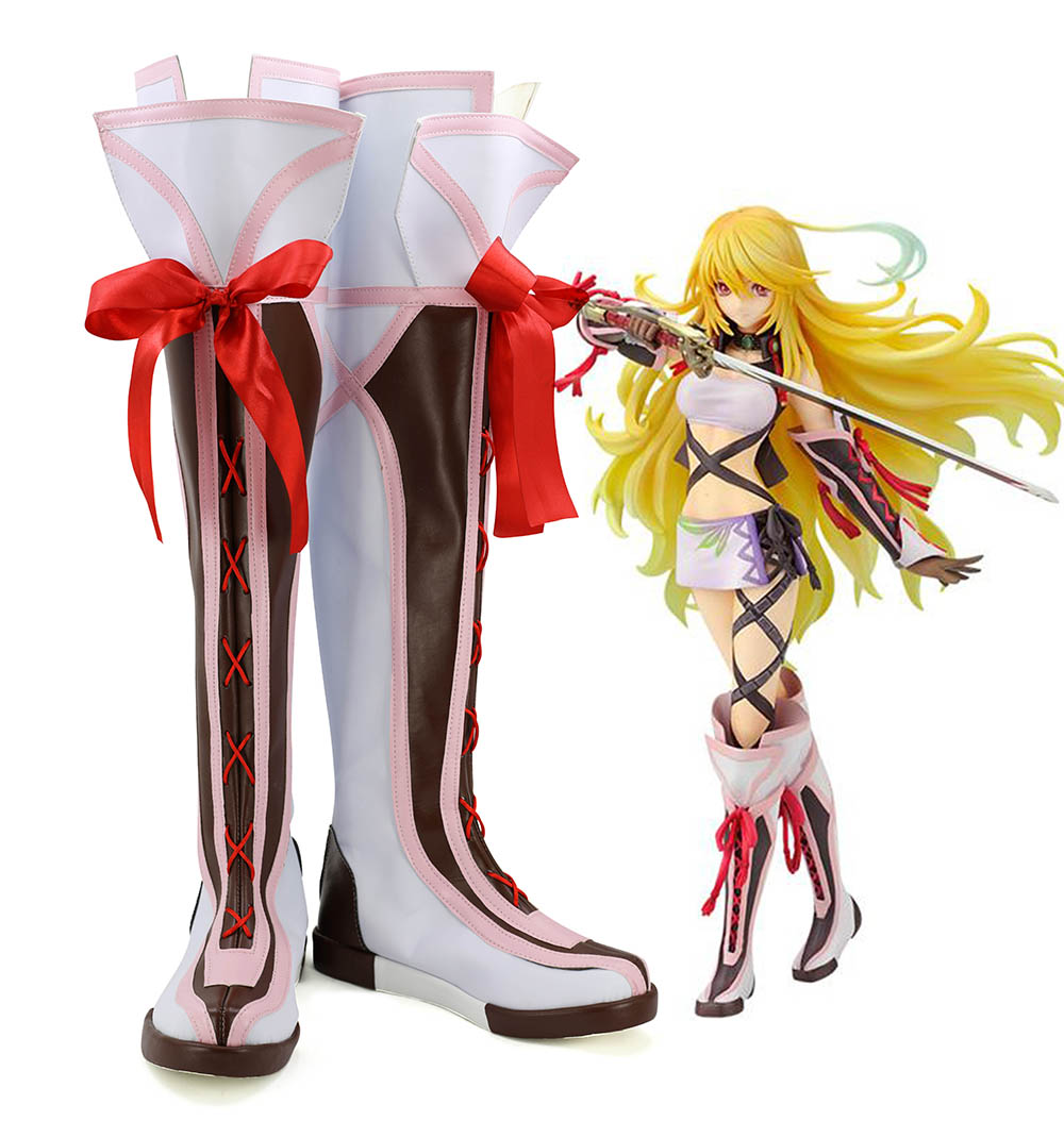 Tales of Xillia Milla Maxwell Cosplay Boots Shoes Custom Made Any Size