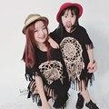 Estilo de verano Trajes A Juego de La Familia de Madre E Hija Vestidos Borlas Trajes de la Familia de Madre E Hija Ropa