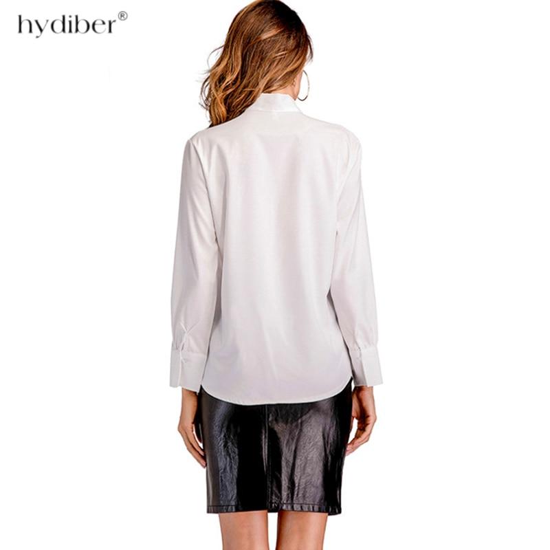 Camisa Elegante Primavera Mariposa Pajarita Invierno White Blanco Blusas Mujer Otoño Larga 2018 Tops Blusa Oficina Con De Manga Mujeres 48z4wqx