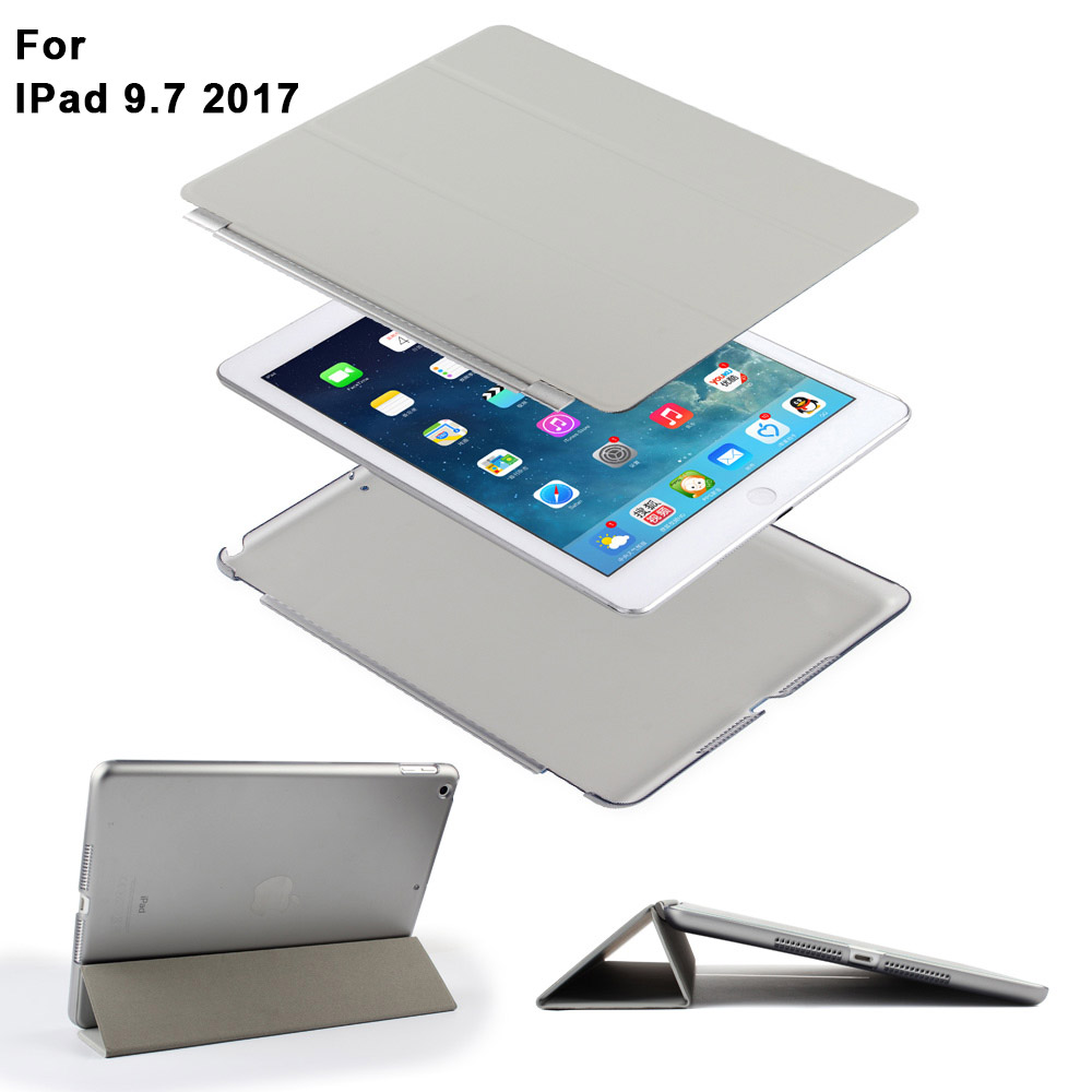Batianda Auto Wake Sleep Function Translucent Magnetic Case for New Apple iPad 9 7 inch 2017