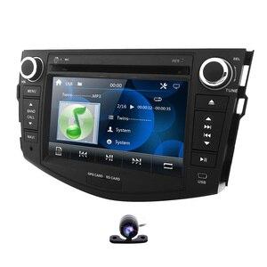 Radio multimedia Car DVD player for Toyota RAV 4 2006-2012 gps navigation Monitor steering wheel dab+ BT Free Camera 8G map card(China)