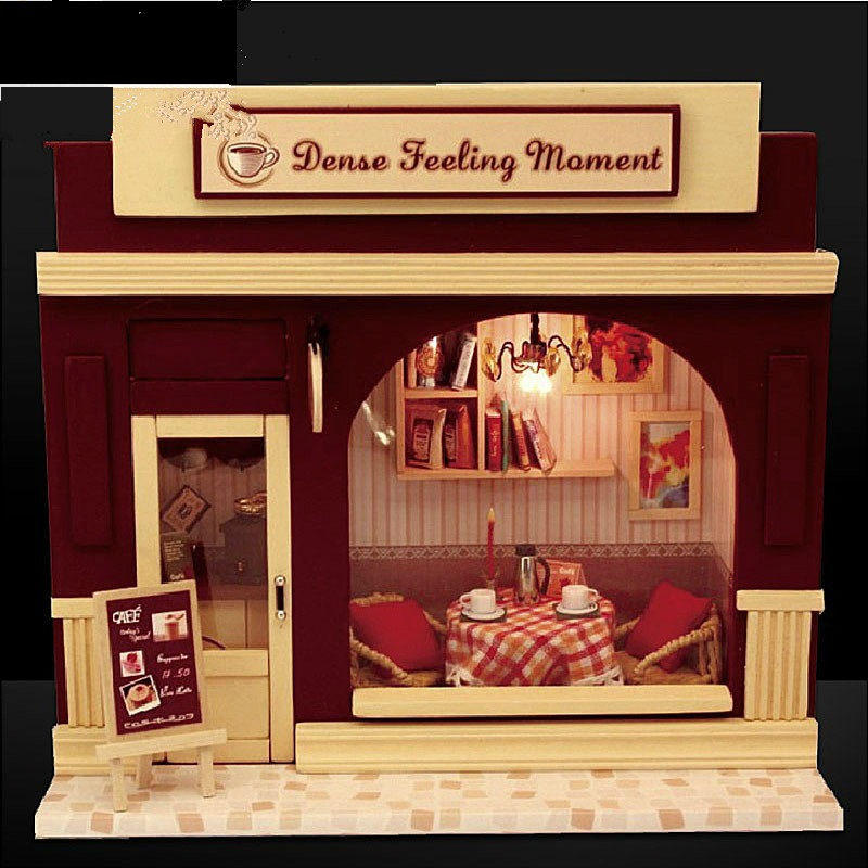 Diy Dence Feeling Moment Europe Shop Wooden Dollhouse