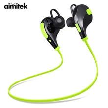 Aimitek fones de ouvido bluetooth esportes csr sem fio fones estéreo handsfree com microfone para iphone smartphones