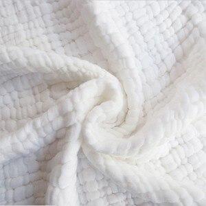 Image 2 - Manta de gasa de algodón arrugado de 6 capas, 100%, algodón, talla grande y color personalizado, manta de 142x228 cm, 100 piezas personalizadas