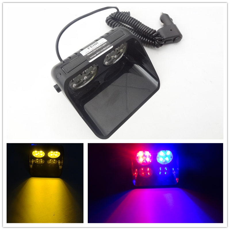 2017 Car-Styling Universial Osculum Type Bright 8LED Flashing Ambulance Police light Car Truck Emergency Light Strobe Light Lamp