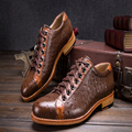 2016 luxury embossed ostrich leather mens goodyear dress shoes latest elegant mens polka dot official shoes boss casual shoes