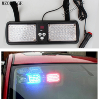 MZORANGE 12 Modes 86 LED Red Blue Super Bright Police Strobe Light Car Truck Visor Strobe Flash Emergency Warning Light