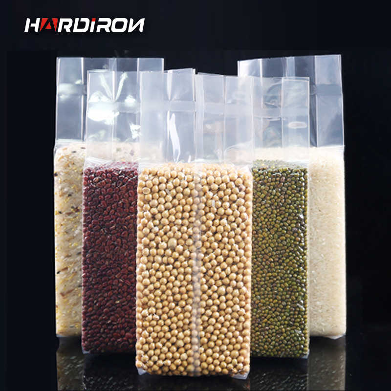 Vacuum Hot Sealing Standing Plastic Pack Bags Thicken Vacuum Food Storage Packaging Tea Dry Fish Dry Fruit Beans Pouches