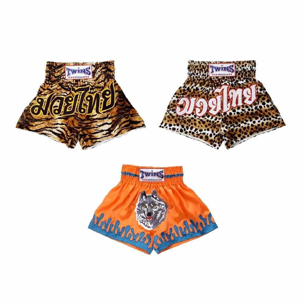 Mmatrunks Pria Muay Thai Celana Pendek Wanita Printing Tinju Batang Olahraga Anak-anak Kickbox Pertarungan MMA Celana Pendek Wushu Sanda Pendek Boxe Thaie