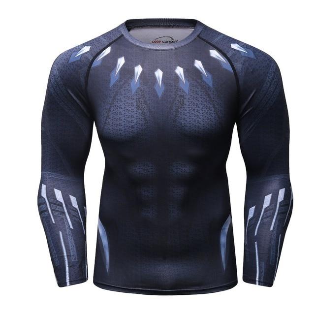 d6b7cf672952 2018 NEW Men Raglan Sleeve Black Panther 3D Printed marvel T shirts  Compression Shirts Crossfit Tops Male BodyBuilding Clothing