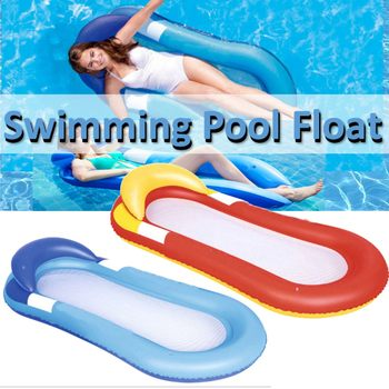 Nadmuchiwany materac pływający fotel salon pływający w basenie plaża pojedynczy materac dmuchany do pływania sporty wodne krzesło pływające łóżko tanie i dobre opinie WOMEN Inflatable Floating Row Chair Bed