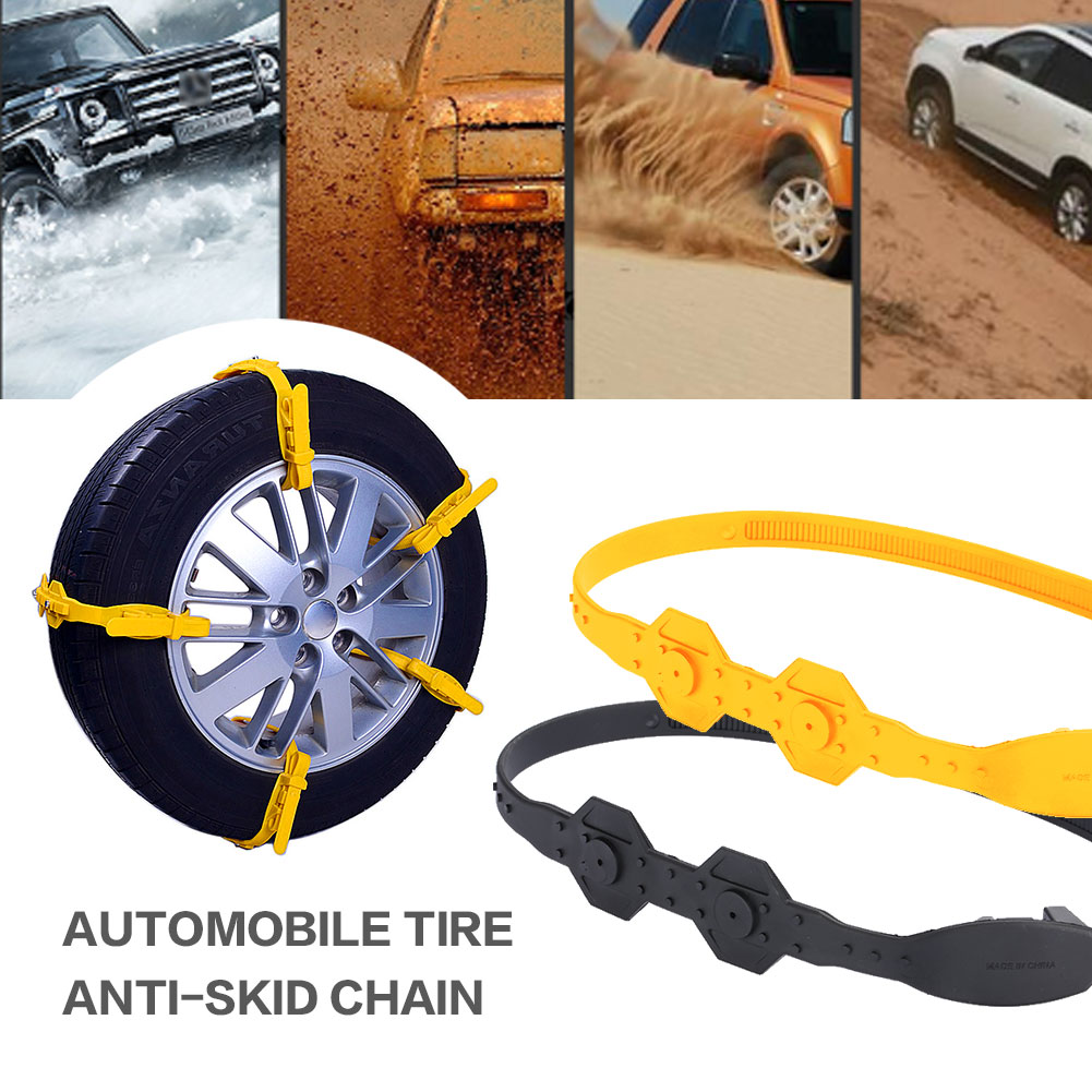 Vehemo TPU 1pc Thickened Universal Snow Tire Belt Mud Wheel Easy Installation Snow Chain Roadway Safety Anti-Skid Chains