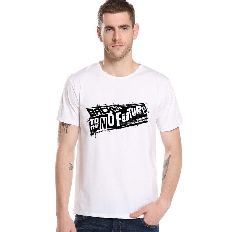 Back To The Future Printed Short Sleeve Men T-shirt Punk Hip Hop Cartoon T shirt Print Men Movie Tee Top brand clothing M12-5#
