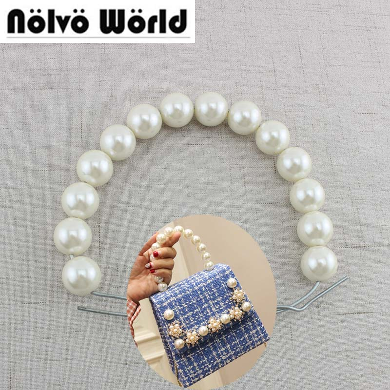 2 Pieces 28cm 11 Inch 2cm Ornamental Pearls Beads Chain For Women Tote Bags Purse Handles Durable In Use Luggage & Bags