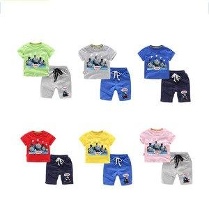 Image 2 - Thomas e amigos 2019 verão moda casual manga curta o pescoço novo clothesthomas manga curta algodão camiseta + calças terno