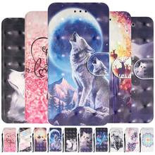 Cute Painted Leather Covers For Samsung Galaxy M30 S10E S10 S10 S9 Plus A10 A2 Core A20 A30 A40 A40S A50 A60 A70 A80 A90 DP16F(China)