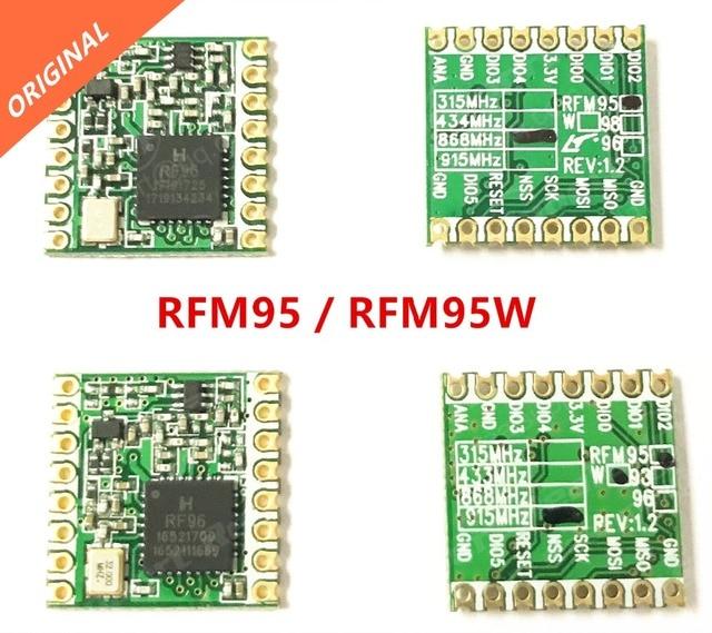 Il trasporto libero 2 PCS RFM95 RFM95W 868 915 RFM95-868MHz RFM95-915MHz LORA SX1276 modulo ricetrasmettitore wireless ORIGINALE