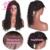 7A Brasileño de la Virgen Profunda Del Pelo Rizado Del Frente Del Cordón Pelucas de Cabello Humano llena Del Cordón Pelucas de Pelo Humano para Las Mujeres Negras Rizada Del Frente Del Cordón peluca