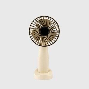 Image 3 - Mini Portable Hanging Usb Charging Fan Rotating Handheld Desktop Cooling Fan Cooler Mobile Phone Holder