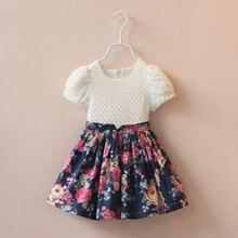 2017 summer style new girls dress dress girls clothes cotton princess patchwork floral dress baby clothes vestidos