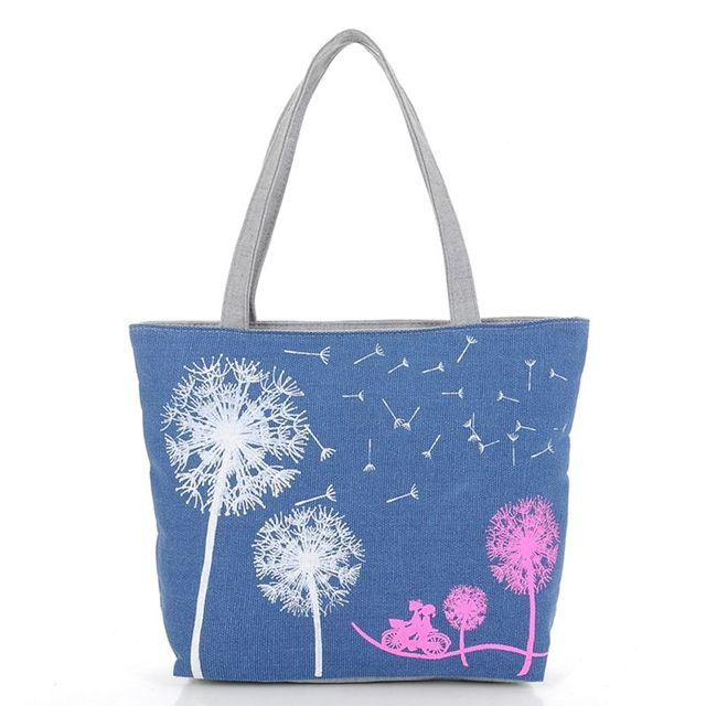Vogue Star Sale New 2017 Fashion Dandelion Canvas Bag Flowers Women Handbag Shoulder Bags Women Messenger Bags Bolsas  YK40-789