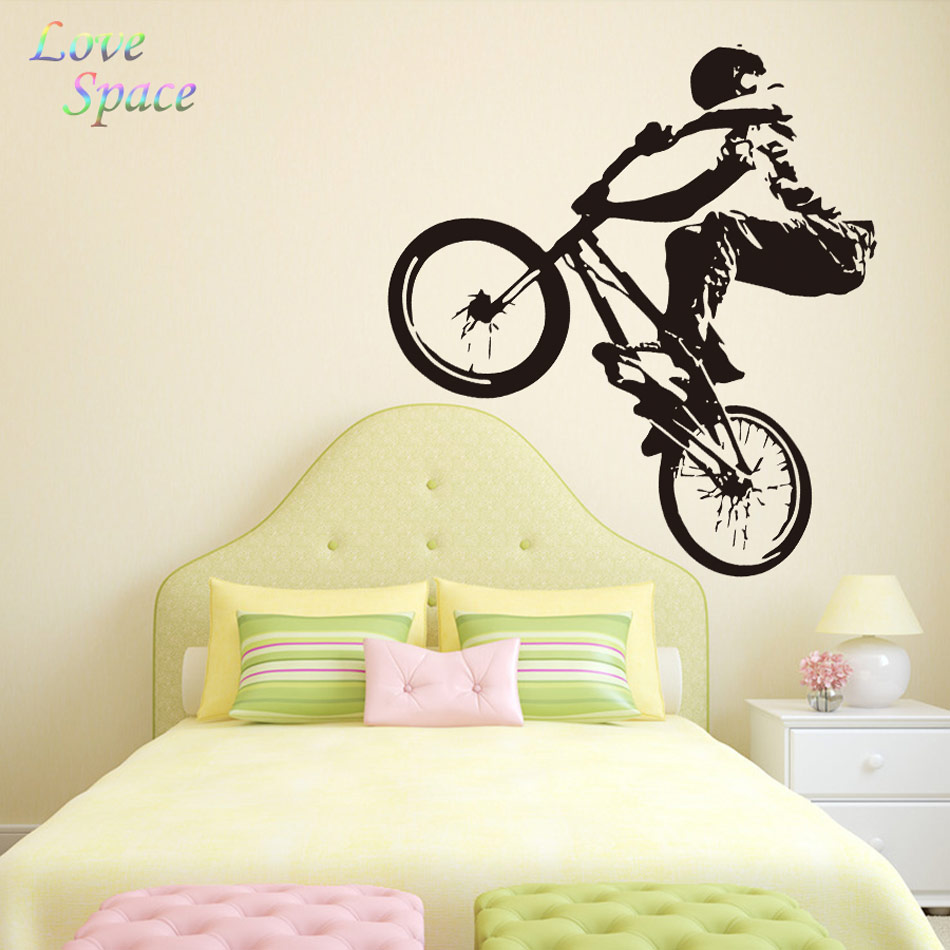 POOMOO Wall Decal Vinyl Sticker Decals Bike Cycle BMX Bicycle Jump ...