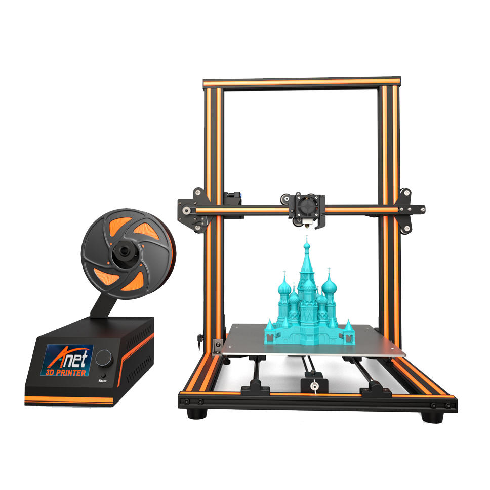Anet 24V E16 3D Printer Pre assemble DIY High Precision Extrude Nozzle Reprap Prusa i3 3D Printer with 10m Filament Impresora 3D