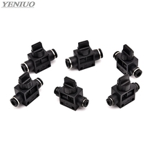 Black Pneumatic Air 2 Way Quick Fittings Push Connector Tube Hose Plastic 4mm 6mm 8mm 10mm 12mm Pneumatic Parts zh05ds 06 06 06 quick connector pneumatic air exhaust vacuum ejector body ported type without silencer
