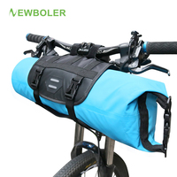 NEWBOLER Bicycle Front Tube Bag Waterproof Bike Handlebar Basket Pack Cycling Front Frame Pannier Bicycle Accessories