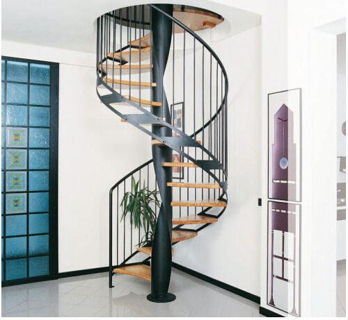 Wrought Iron / Glass/ Steel /PVC Handle Staircase Spiral / Straight /Arc /