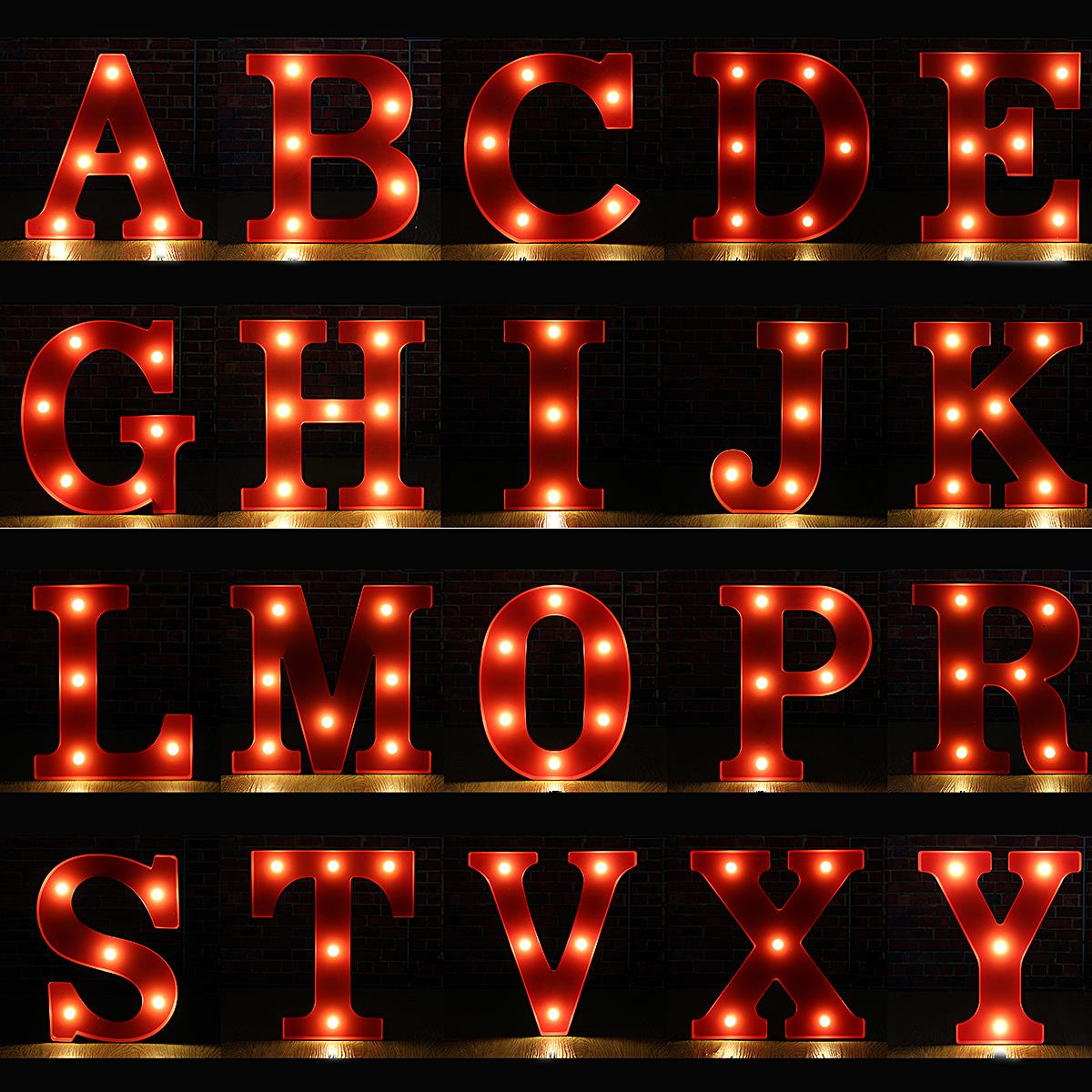 aliexpresscom buy wall lamp led night light lamp kids marquee letter lights vintage alphabet light up christmas party battery operated from reliable lamp