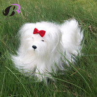 Boli mannequin Pet Dog with Cow Hair Dog Beauty Training Full Body Dog Doll Kids Toy Home Decorations Birthday Gift For Baby