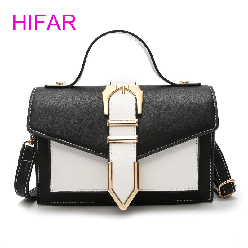 Women bag new small bags Europe and American Style fashion hit color lock small square bag High Quality shoulder Messenger bag