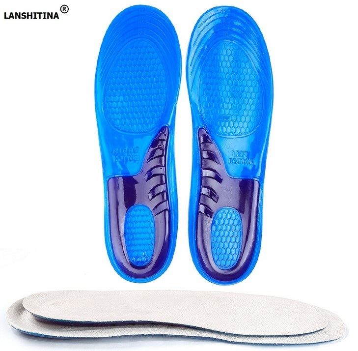 2017 Shoe Insole High Elastic Damping Silicone Gel Insoles For Shoes Soles Orthopedic Insoles Foot Pad silicone insoles elastic damping cushion insole sport health men s lady pain relief military soft insole foot pad 2016