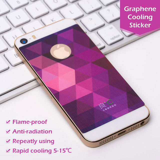 best service 2d93c b5021 US $28.0 |OEM Fashion Shining Bling Slivery Golden Anti radiation Graphene  Cooling Mobile Phone Stickers Case Cover for iPhone5/5S-in Mobile Phone ...