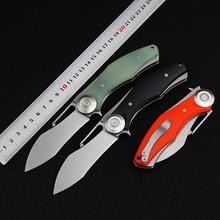 Knight 2 Tactical Knife D2 Blade G10 Utility Folding Knife Outdoor Pocket Camping Survival knife EDC Gift Knives Hunting Tools