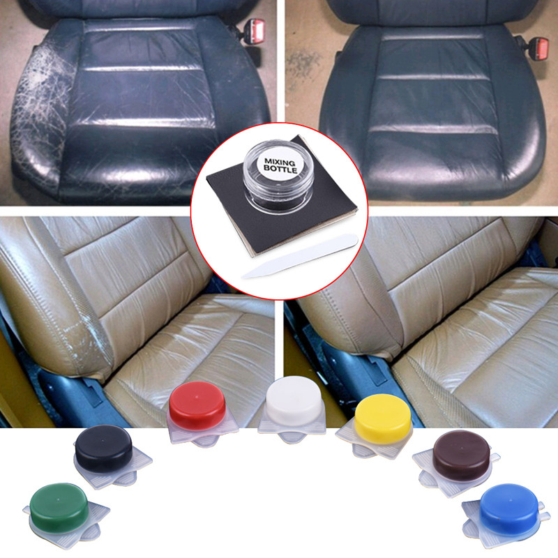 ToHuu Car Leather Repair Tool Kit Polishes Paint Care Auto Car Seat Sofa Holes Scratch Repairing Tools