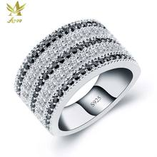 ANGG Classical S925 Sterling Silver Ring for Women Cubic Zirconia Wedding & Engagement Jewelry Prong Setting Rings Wedding Band