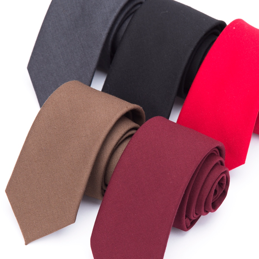 New Men Tie Solid Style Wool Cotton 6cm Ties For Men Slim Necktie Business Wedding Cravat Clothing Shirt Accessories Warm Tie