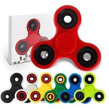 Más caliente Multicolor Triángulo Finger Gyro Spinner Fidget Plástico EDC Mano Para Aliviar El Estrés Ansiedad Enfoque Regalo Juguetes Autismo/ADHD