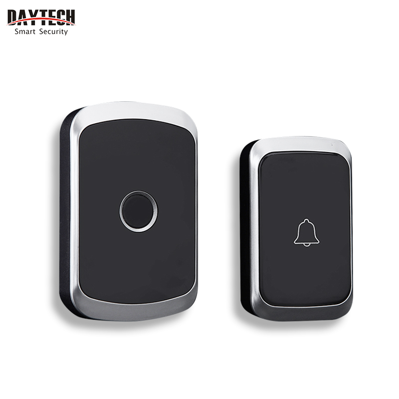 DAYTECH Wireless Doorbell Chime Kit Ring Door Bell Home Welcome Alert Waterproof Remote Control Push Button Receiver EU/US/UK(China)