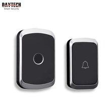 DAYTECH אלחוטי פעמון פעמון ערכת טבעת דלת בל בית בברכה התראת Waterproof שלט רחוק לדחוף כפתור מקלט (DB06)