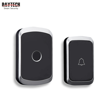 цена на DAYTECH Wireless Doorbell Chime Kit Ring Door Bell Home Welcome Alert Waterproof Remote Control Push Button Receiver (DB06)