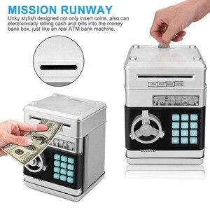 Image 2 - Elektronik kumbara ATM şifre para kutusu nakit para tasarrufu kutusu ATM banka kasa otomatik kasa banknot noel hediyesi