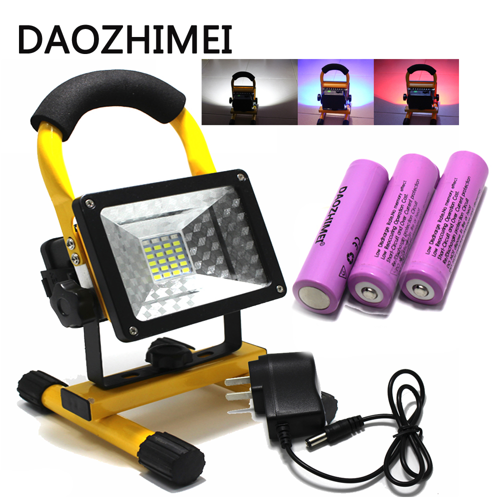 IP65 3 Modes 24LED Floodlight 30W Portable Rechargeable Cordless Flood Light Emergency for Car Traveling Camping Fishing Use ...
