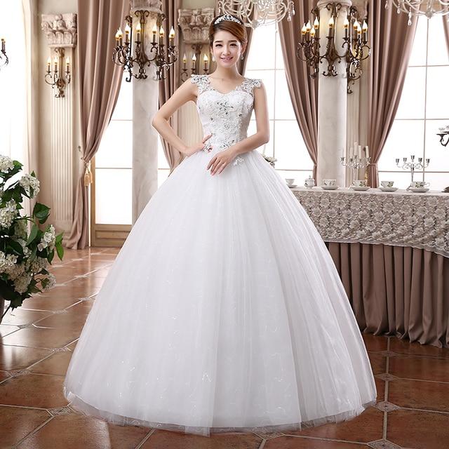 LYG D39#2017 Spring Summer New Wedding Dress Korean Word Shoulder Size  Wedding Waist