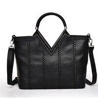 Leather Women Messenger Bag Big Shoulder Bag Large Capacity Totes Famous Brand Bolsa Feminina Herald Fashion